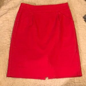 Hot pink Jcrew pencil skirt